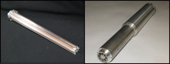 Figure 2. Rotating HiK™ Shaft with embedded, freeze-tolerant copper-water heat pipes.