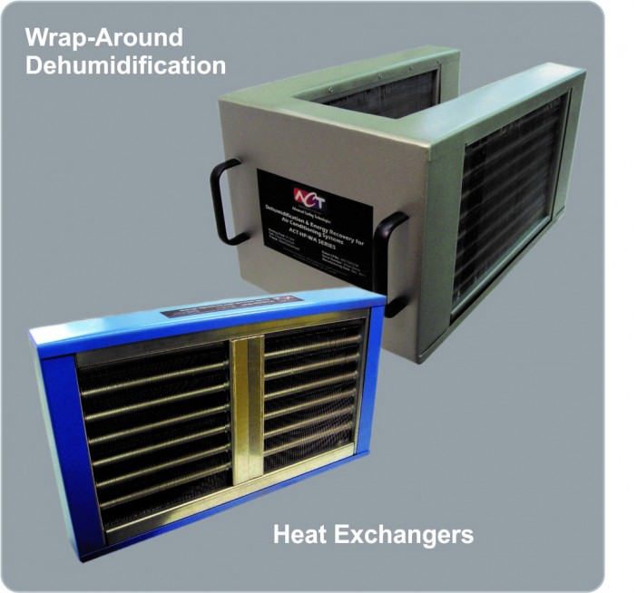 Energy recovery heat exchangers typically used R134a refrigerant as the working fluid, with stainless steel or copper envelopes.