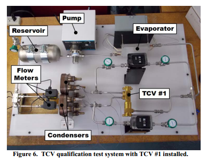 TCV qualification test system with TCV #1 installed.