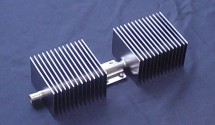 Copper/water heat pipe heat sink for outdoor applications