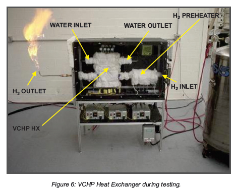 VCHP Heat Exchanger during testing