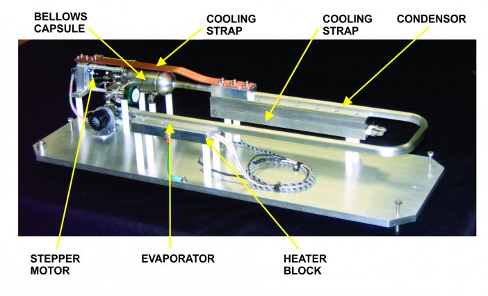 Figure 3 Aluminum/Ammonia Pressure Controlled Heat Pipe for Precise Temperature Control