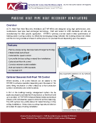 Passive Heat Pipe Heat Recovery Ventilators