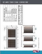 Air-to-Air Heat Pipe Heat Exchanger (HP-AAHX) Engineering Dimensions