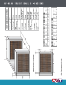 Wrap-Around Heat Pipe Heat Exchanger (HP-WAHX) Engineering Dimensions