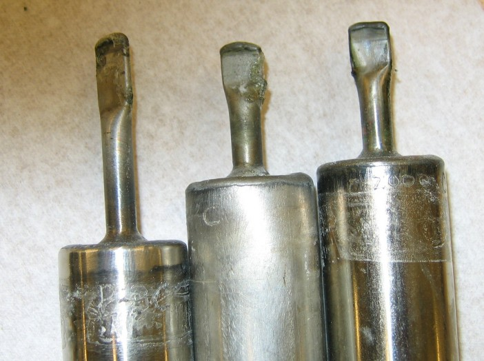 Figure 3. GaCl3 is incompatible with superalloys. A leak developed at the pinch-off tubes within one week after the life test was started.