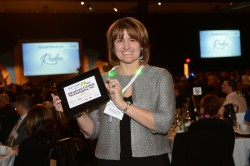 Diane Baldassarre accepted the No. 49 small/medium award for Lancaster County-based Advanced Cooling Technologies.