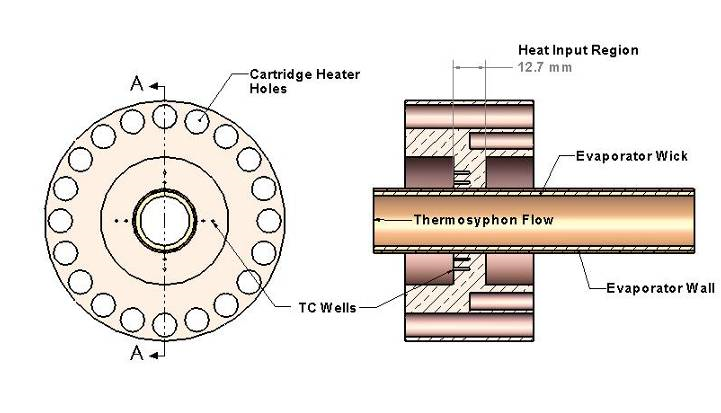 Figure 4. Detailed drawing of the evaporator design