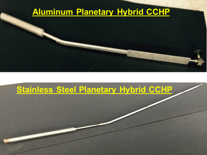 Figure 3. Planetary hybrid-wick CCHPs.
