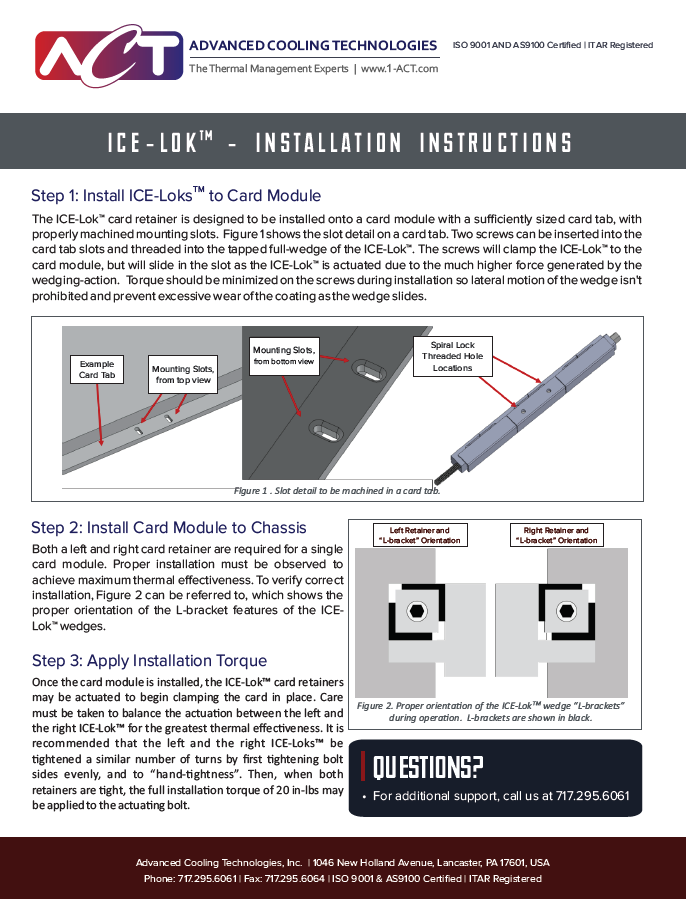 ICE-Lok™  Installation Instructions