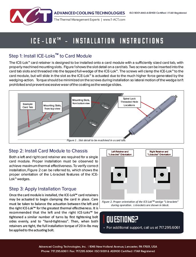 ICE-Lok™  Installation Instructions