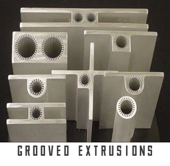 Example of grooved extrusion type of heat pipe wick
