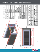 Wrap-Around Heat Pipe Heat Exchanger (HP-WAHX) Loop Thermosyphon Engineering Dimensions