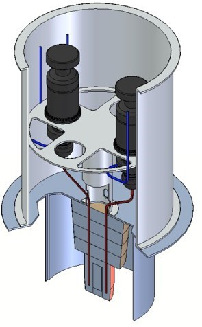 Fig. 10 Fixed Heat Pipe Radiator Type 2 1 kW Scale.