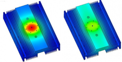 Thermal Simulations of an Extruded IGBT heat Sink