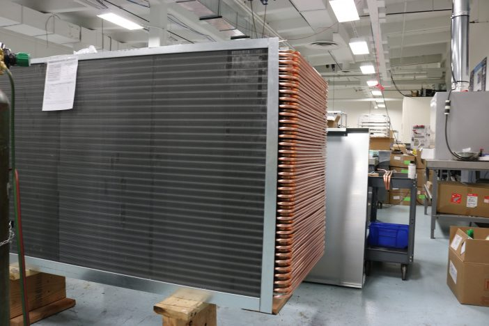 ACT Wrap-Around Heat Pipe Heat Exchanger in Production