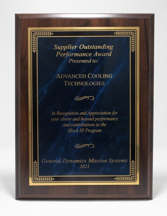 General Dynamics Mission Systems Supplier Award